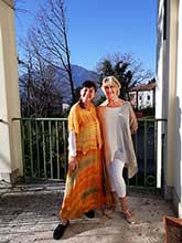 Gemona Italy October 2017 Lucia and Lesley